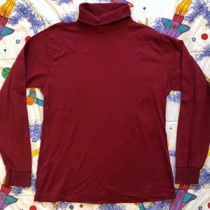 VTG 90s Red Cotton Turtleneck Sweater
